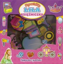 Lila księżniczka - magiczne pudełka. Książeczka z puzzlami