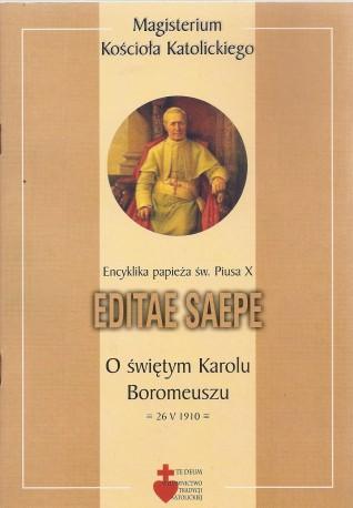 Editae Saepe. Encyklika papieża św. Piusa X o świętym Karolu Boromeuszu