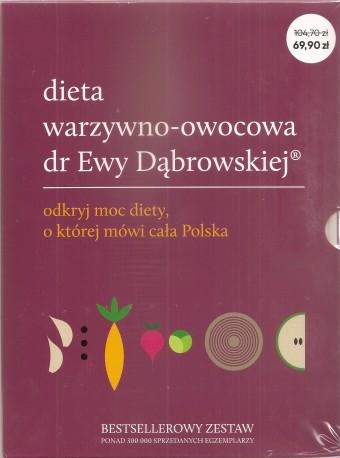 Dieta warzywno-owocowa dr Ewy Dąbrowskiej. Komplet 3 książek