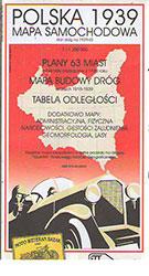 Polska 1939. Mapa samochodowa 1:1 250 000. Reedycja