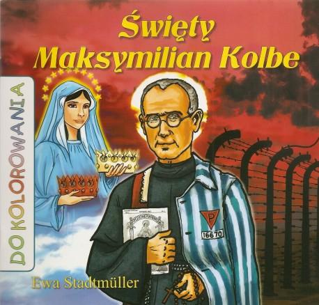 Święty Maksymilian Kolbe. Kolorowanka