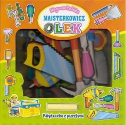 Majsterkowicz Olek - magiczne pudełka. Książeczka z puzlami
