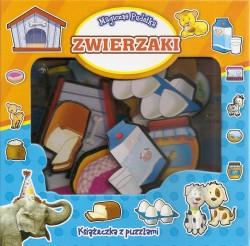 Zwierzaki - magiczne pudełka. Książeczka z puzzlami