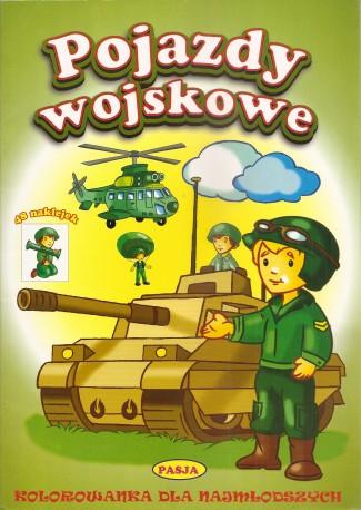 Pojazdy wojskowe, Kolorowanka dla najmłodszych