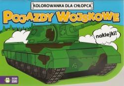 Pojazdy wojskowe, Kolorowanka z naklejkami