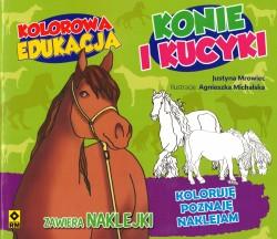 Konie i kucyki. kolorowa edukacja